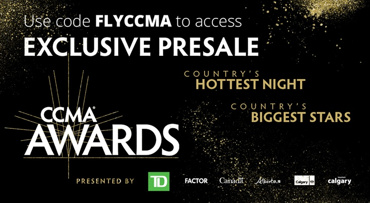 Canadian Country Music Awards pre-sale tickets