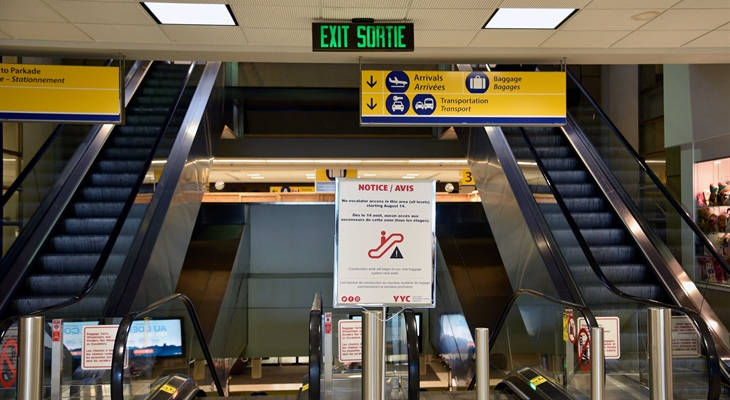 Escalator Bank Shutdown as Work Continues on the new Baggage System