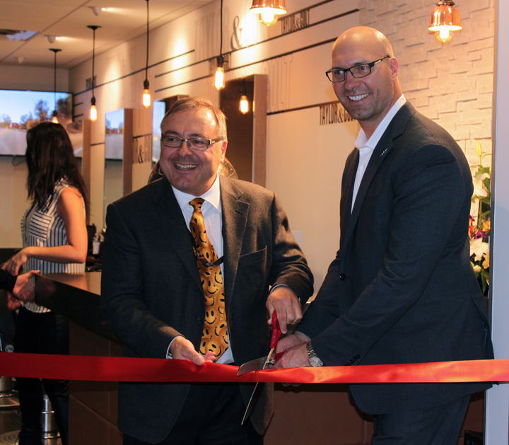 Photo of Taylor & Colt ribbon cutting ceremony at YYC