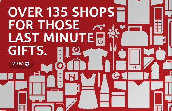 Over 135 shops for those last minute gifts.