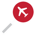 Icon for flight search