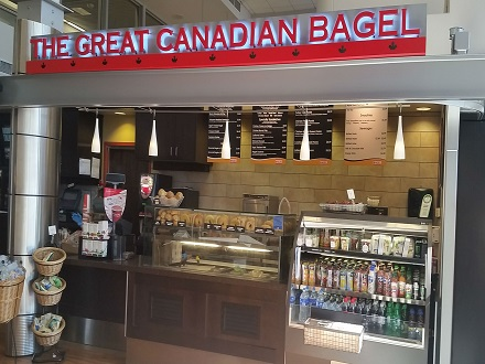The Great Canadian Bagel serves an array of bagel and panini sandwiches