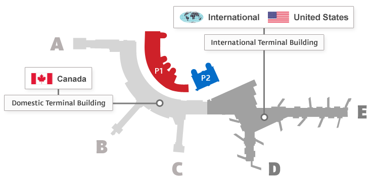 YYC New International Terminal Map