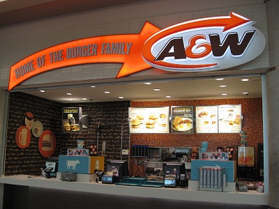 A & W burgers & root beer